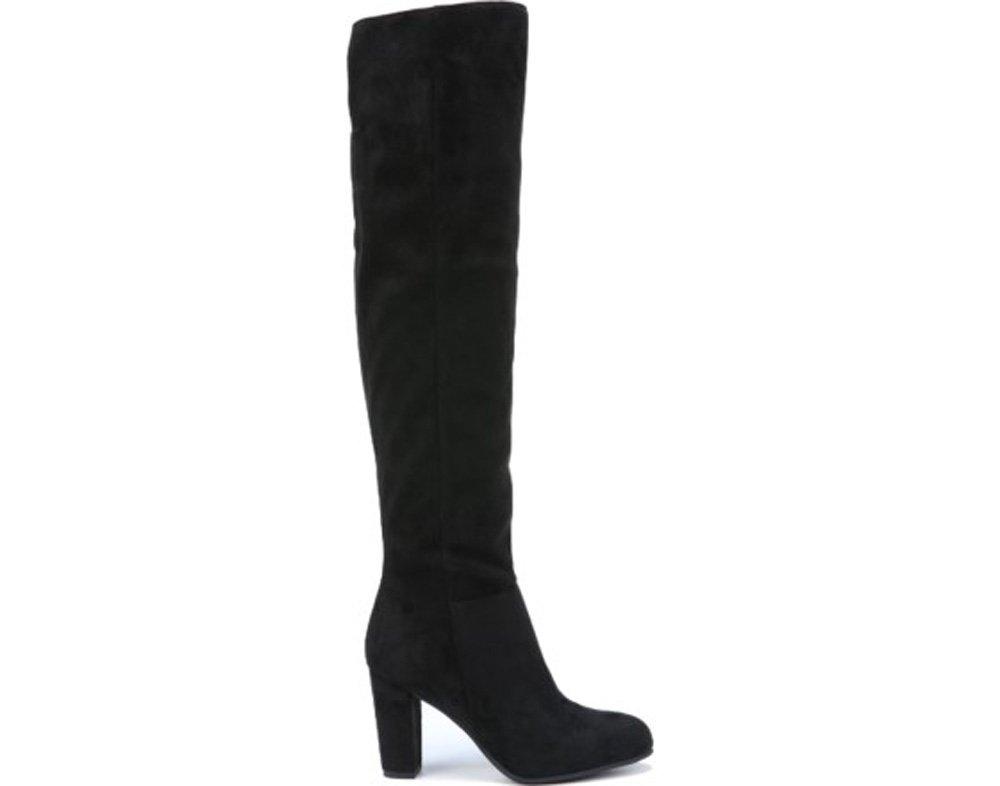 Franco Sarto Women's HESPIRIA Boots B01G7PNW3S 9 B(M) US|Black Royal Suede Fabric