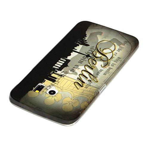 deinPhone Samsung Galaxy S6 Edge de silicona diseño de Skyline de Berlín