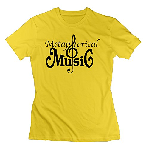 Yellow RMVEP Music Album Women's Casual Short Sleeve T-Shirt Size M