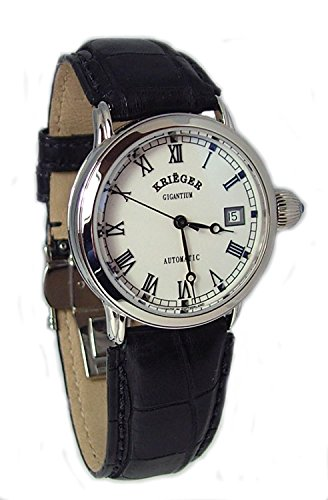 Krieger Unisex Watch K3003.1A.5R Black Leather Strap (Krieger Mens Watches)