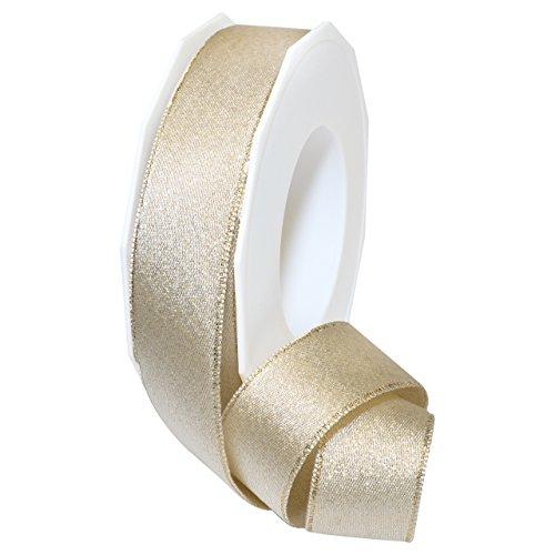 Morex Ribbon 67925/20-104 Glitter Satin Polyester Ribbon, 1