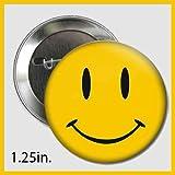 Popular TradeZ Smiley Face Button Pin Comedian's Badge, 1.25-Inch