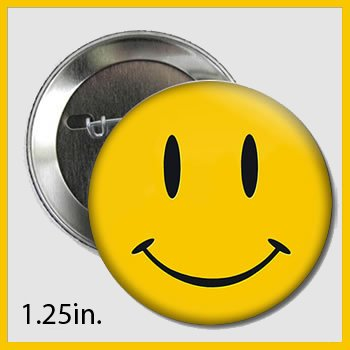 Popular TradeZ Smiley Face Button Pin Comedian's Badge, 1.25-Inch