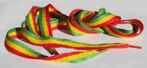 Rasta Reggae Shoe Laces - a pair - 90cm