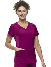 Purple Label Modern Fit by Healing Hands Women's Juliet V-Neck Scrub TopWine