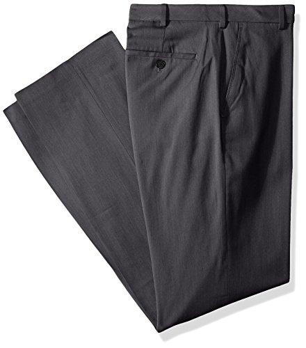 Van Heusen Men's Big and Tall Air Straight Fit Flat Front Dress Pant, VH Dark Grey, 46W X 32L