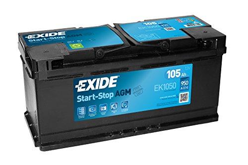 Exide 020 AGM Car Battery 105Ah EK1050: