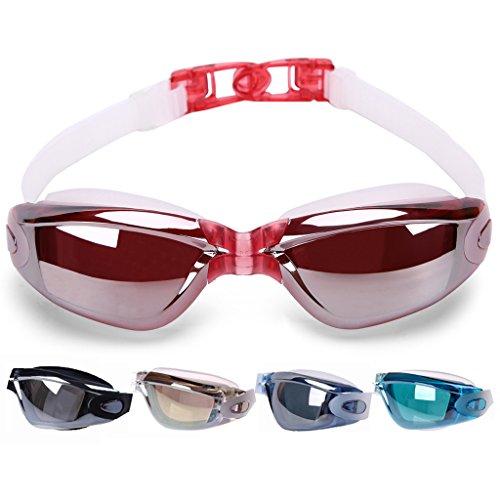 VenTing Swimming Goggles For Men Women,Swim Glasses Watertight Anti Fog UV Protection Red