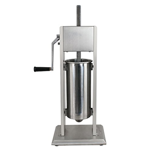 ZENY Sausage Stuffer Commercial Vertical 5L 11LB Stainless Steel 2-Speed Sausage Filler Maker, w/4 Stuffing Tubes (#01)