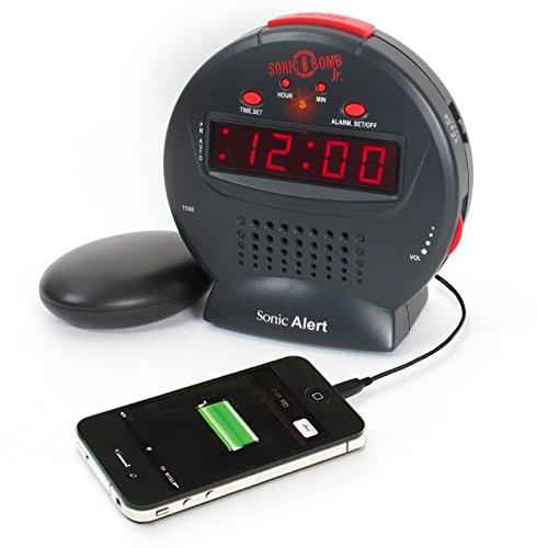 Sonic Alert Cool Alarm Clock, Bomb Jr Digital Home Bedside S