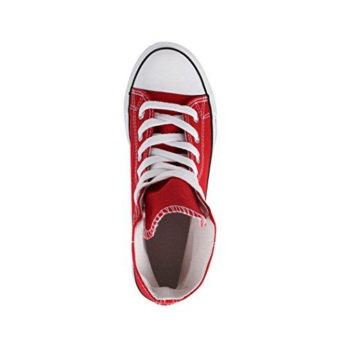 Sneaker Kult Per Basic Uomo Rot Scarpe Top Tessile Donna Comodo Sport e High Unisex Elara Scarpe E5fqYH4