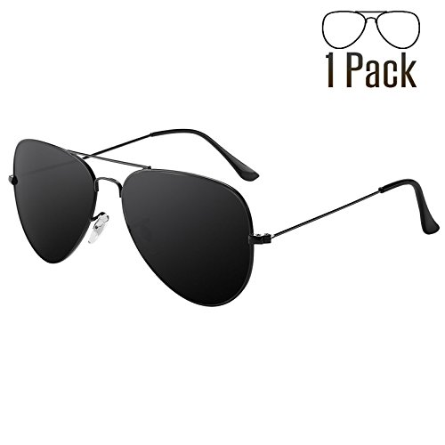 Livhò G Sunglasses for Men Women Aviator Polarized Metal Mirror UV 400 Lens Protection (Black - Costa Sunglasses Low Light