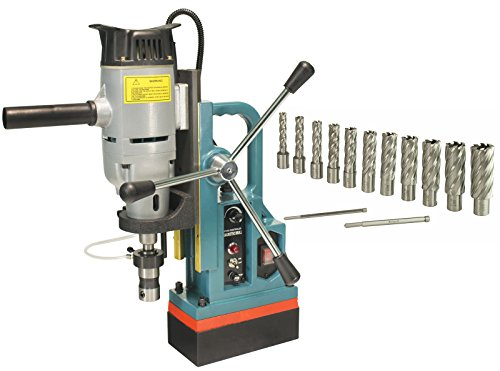 Steel Dragon Tools MD45 Magnetic Drill Press with 13PC 2'' HSS Annular Cutter Kit by Steel Dragon Tools