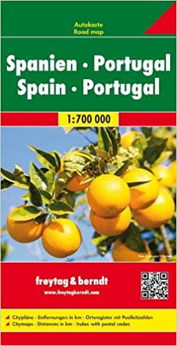 España y Portugal, mapa de carreteras. Escala 1:700.000. Freytag ...