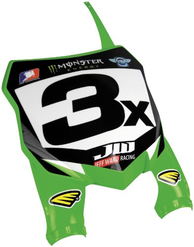 Cycra 0700-72 Kawasaki Green Stadium Front Number (Front Guide Plate)
