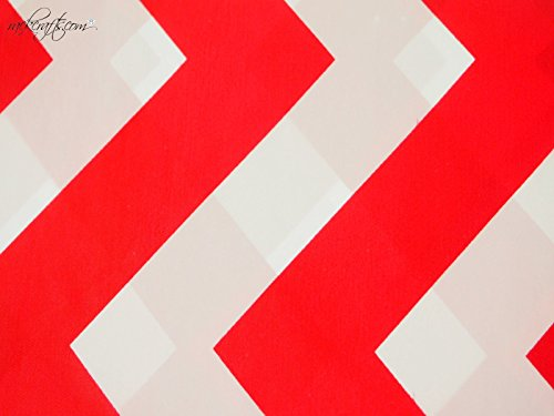- rackcrafts.com Rectangle Heavy Duty Plastic Table Cover Designer ZigZag Gingham Safari Polka Dot (ZigZag - Red)