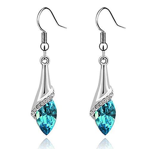 Angel Teardrop Womens Silver Swarovski Elements Crystal Bangle Bracelet earring necklace (Swarovski Elements Ring compare prices)