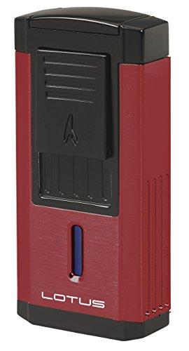 Lotus Lighter Duke L60 Tiple Flame Lighter w/ Cutter - Red & Black