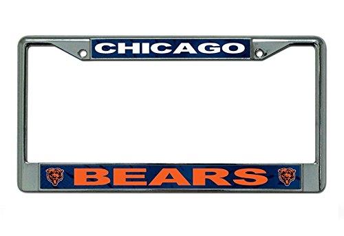 Chicago Bears Nfl License Plate - NFL Chicago Bears Chrome Licensed Plate Frame