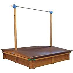 Tierra Garden G31001 Large Children's Wooden Sandbox With Roof