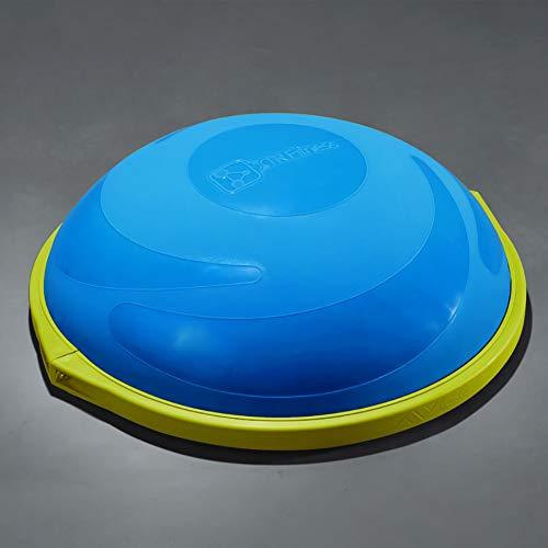 ZHLXZ Half Ball Balance Trainer, Ø 60Cm Inkl Hand Pumpe Beidseitig Nutzbar,Blau,D
