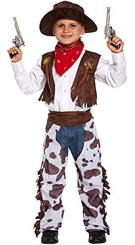 MA ONLINE Kids Cowboy Fancy Party Wear Outfit Childrens Western Book Week Day Costume Small 4-6 Years