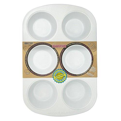 Range Kleen BC6010 CeramaBake 6-Cup Jumbo Muffin Pan, 13.4