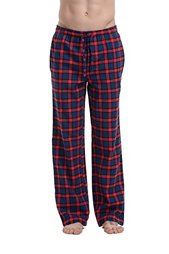 CYZ Men's 100% Cotton Premium Super Soft Flannel Plaid Pajama/Louge Pants-F1511069-XL