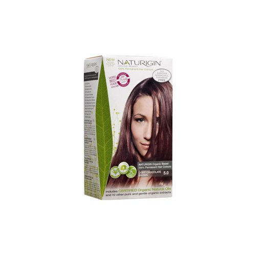 Naturigin Hair Colour - Permanent - Light Chocolate Brown - Certified Organic Ingredients (Pack of 2) by Naturigin