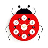 Wall Clocks of Red Beetle Shape Wall Clock