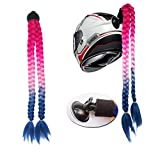 3T-SISTER Helmet Pigtails Accessory Pigtails Ponytail Braids Hair for Motorcycle Bicycle Batting Skate or Other Helmets 2 Braids Together 24inch /Many Colors