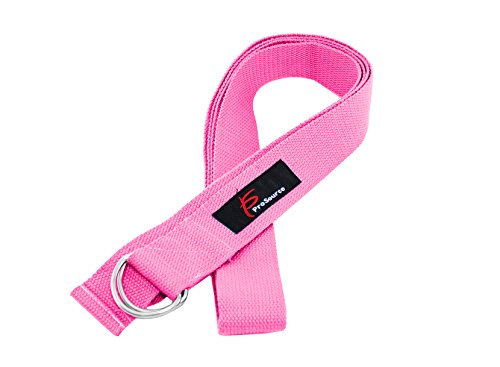 ProSource Yoga Strap with Metal D-Ring, Pink