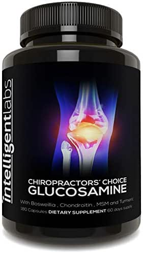 ★#1 Best Glucosamine On Amazon ★ Triple Strength Glucosamine Sulphate Complex 1500mg ★ with Boswellia, Chondroitin, MSM and Turmeric ★ …