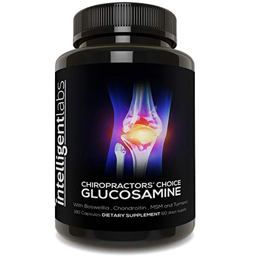 ★#1 Best Glucosamine On Amazon ★ Triple Strength Glucosamine Sulphate Complex 1500mg ★ with Boswellia, Chondroitin, MSM and Turmeric ★ ...