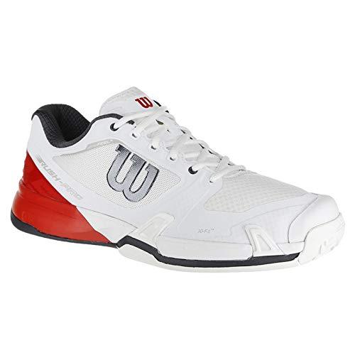 Wilson Rush Pro 2.5 Mens Tennis Shoe - White/Fiery Red/Ebony - Size 10.5