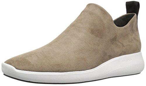 Via Spiga Womens Marlow Slip on Sneaker Dark Taupe Suede