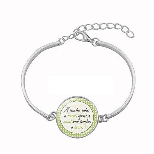 YUANOMSL Crystal Bracelet,Green Circular Dot Art,Time Gemstone Bracelet Plated Silver Alloy Bracelet Women's Handmade Jewelry European Style Jewelry Gift