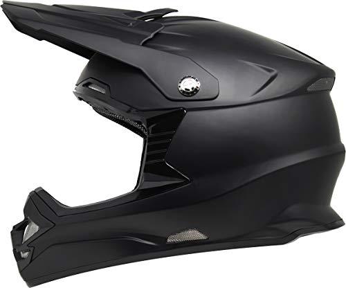 GDM DK-630 Motocross Full Face Offroad Dirt Bike MX Motorcycle Helmet - Matte Black, Large