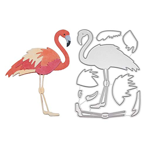 Hukai Flamingo Metal Cutting Dies Stencil DIY Scrapbooking Album Stamp Paper Card Embossing Craft Decor,Good Gift for Your Kids to Cultivate Their Hands-on Ability