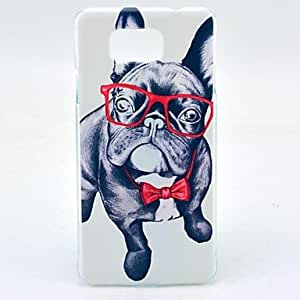 LCJ Happy Dog Pattern Clearly PC Hard Case Cover for Samsung Galaxy Alpha G850F