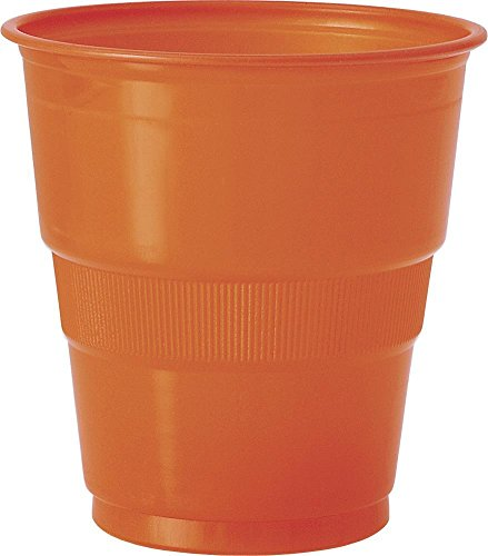 9oz Orange Plastic Cups, 12ct