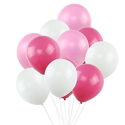 White Pink Rose Red Blush Balloons, KUMEED 12