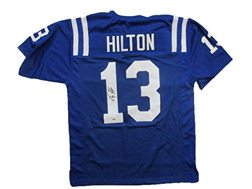 ty-hilton-signed-custom-jersey-auto-psa-dna-y55256-blue