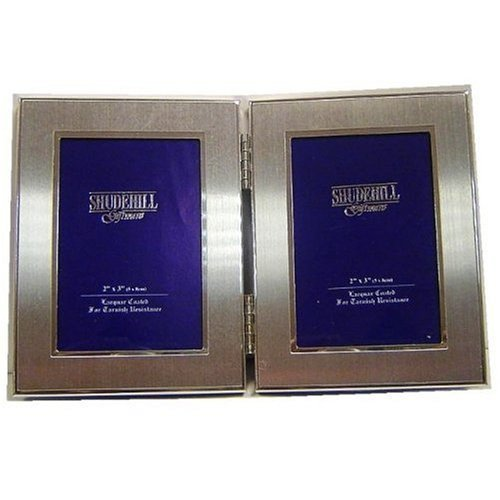 2 x 3 twin 2 picture folding photo frame gift occasion 24223