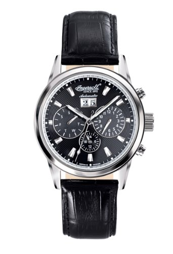 Ingersoll Men's IN1214BK Gatsby Fine Automatic Timepiece Black Dial Watch