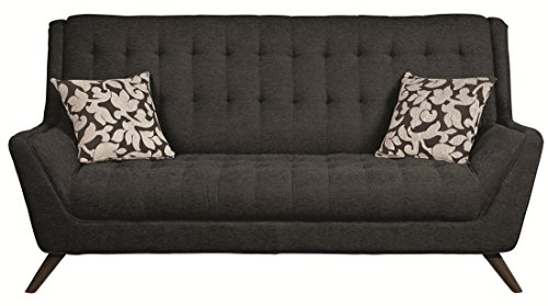 Natalia Retro Sofa with Flared Arms Black