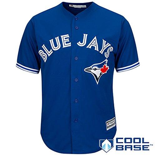 Toronto Blue Jays Blank Blue Youth Cool Base Alternate Replica Jersey (X-Large 18/20)