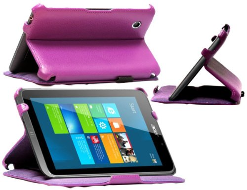 mitab-purple-faux-leather-case-cover-for-the-acer-iconia-w4-windows-81-w4-windows-81-purple