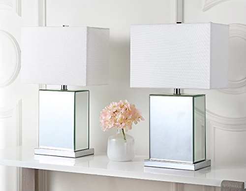 Safavieh Lighting Collection Dana Clear 23-inch Table Lamp (Set of 2) (Lucite Lamp Table)