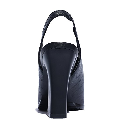 BalaMasa Noir 36 BalaMasa Ouvert Bout Femme 5 Bout Noir 5FHvW7